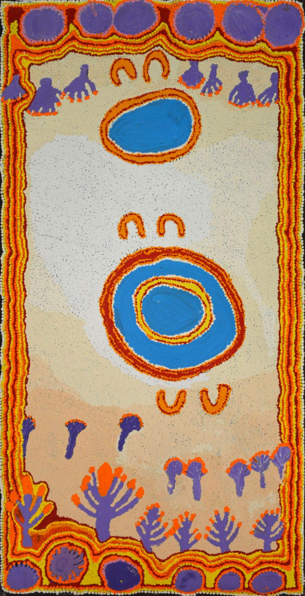 Monica Watson Pukara acrylic on canvas 122 x 61 cm