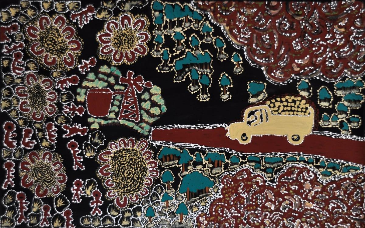 Anawari Mitchell History Stories acrylic on canvas 120 x 75 cm