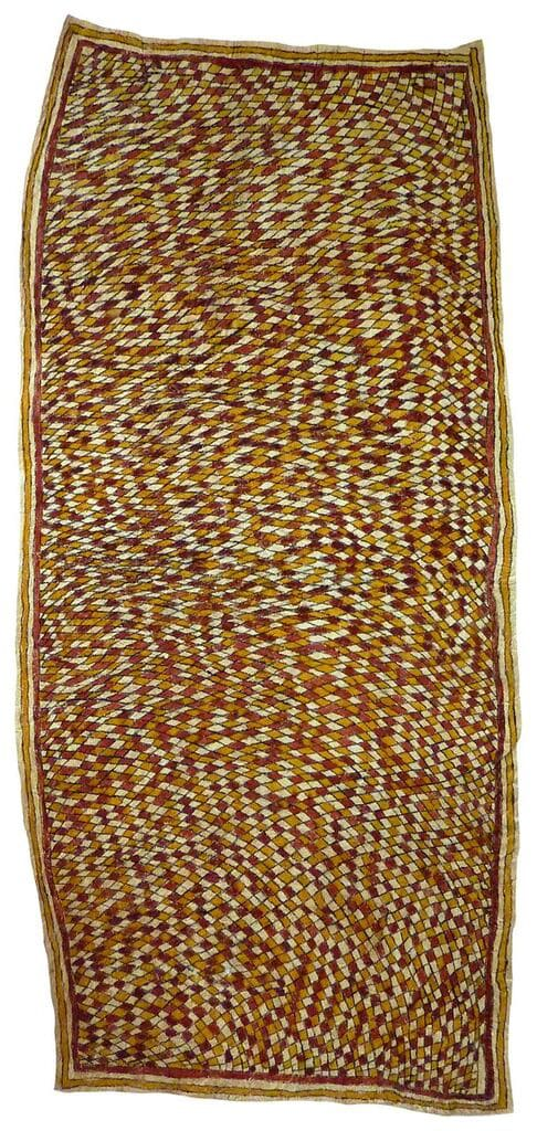 Stella Üpia (Agisé) Vahuhu sin'e natural pigments on nioge (barkcloth) 129 x 58.5 cm