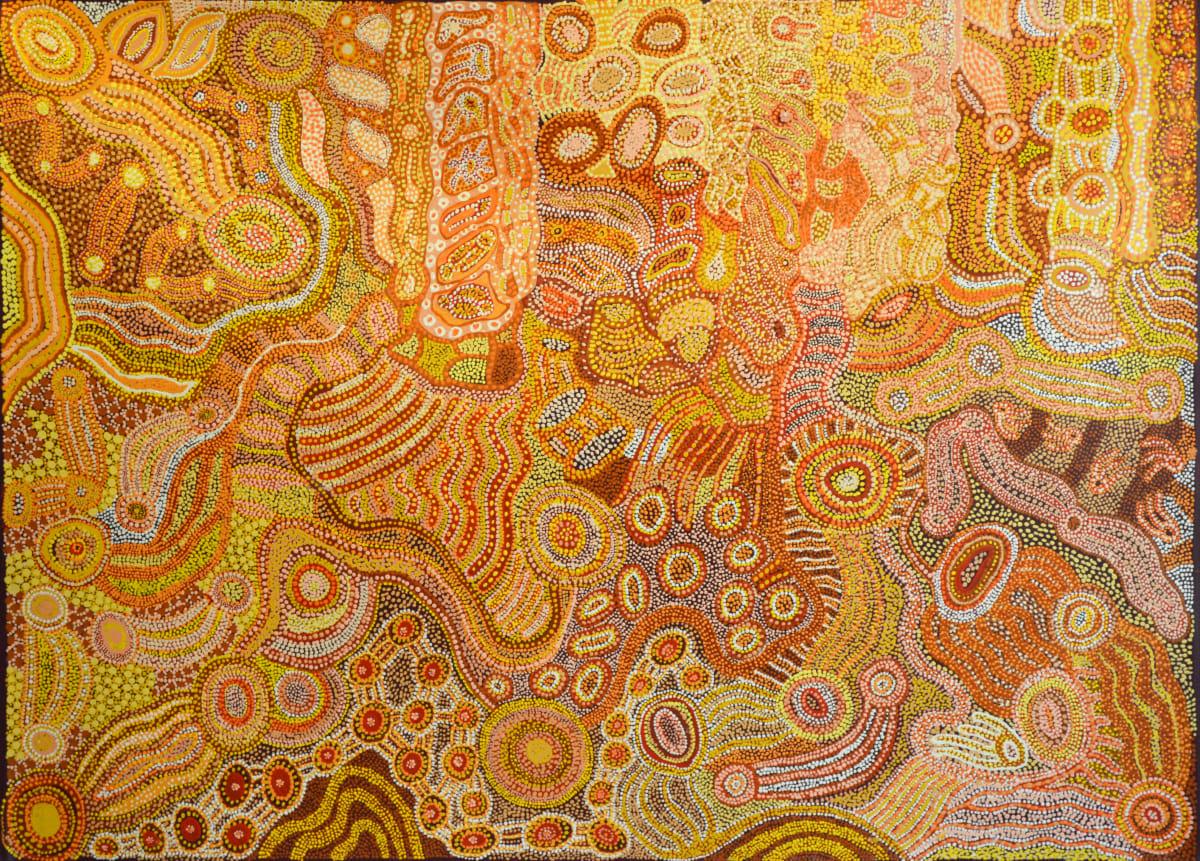 Sandra Goodwin Ngura (Country) acrylic on canvas 122 x 167 cm