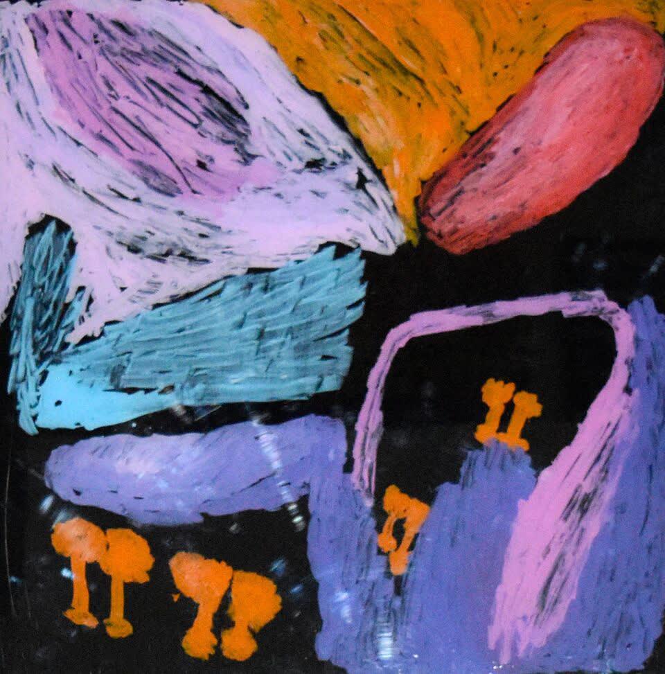 Rosie (Tarku) Tarco King Japirnka acrylic on polycarbonate 60 x 60 cm