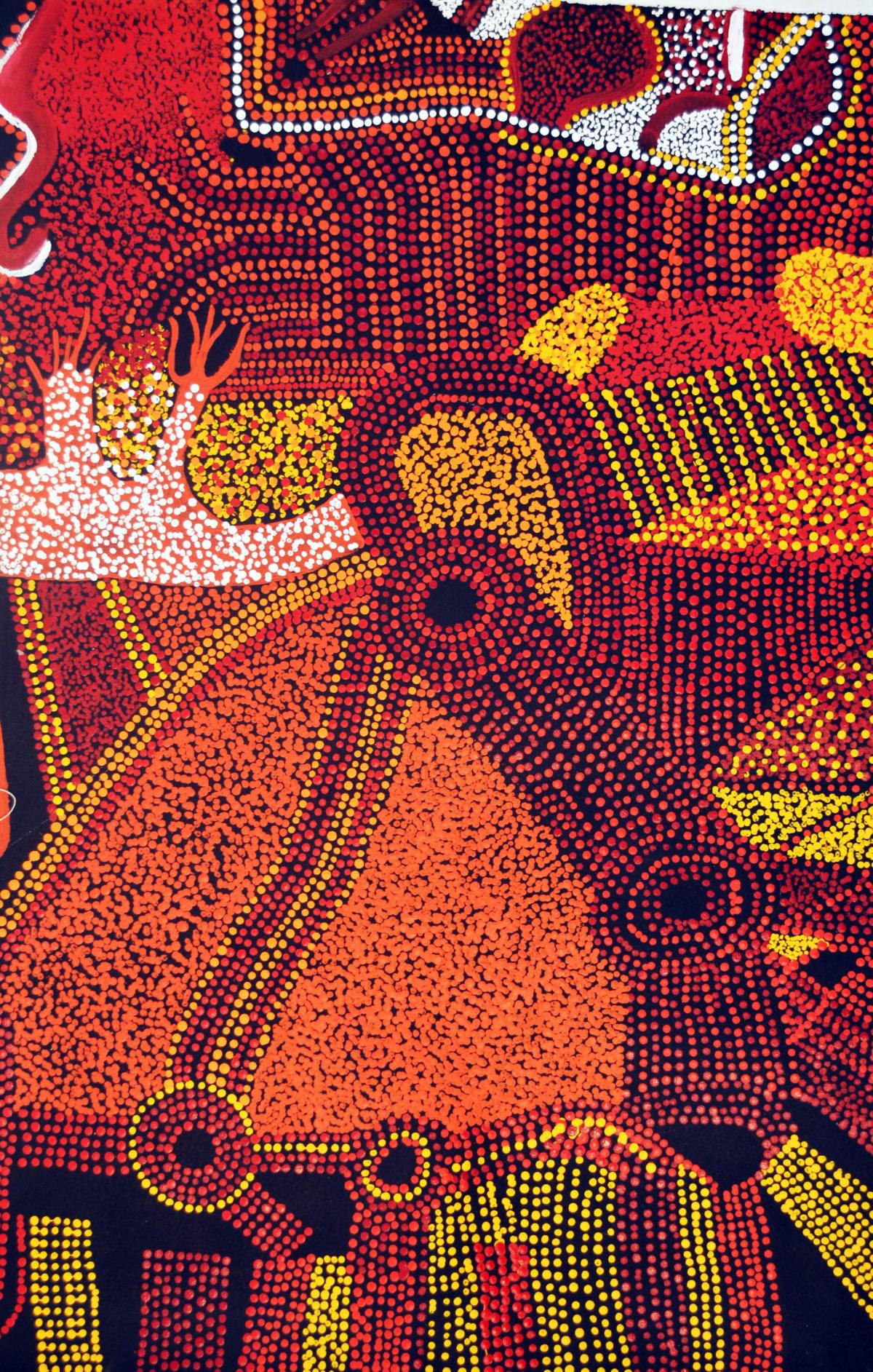 Bradley Tunkin Kalaya Tjukurpa (Emu Dreaming) acrylic on canvas 91 x 61 cm