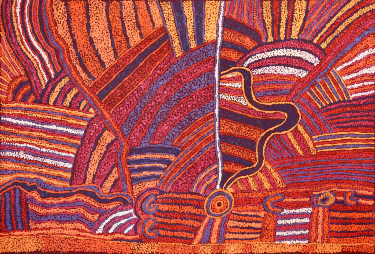 Judy Martin Ngayuku Ngura (My Country) acrylic on linen 81 x 122 cm
