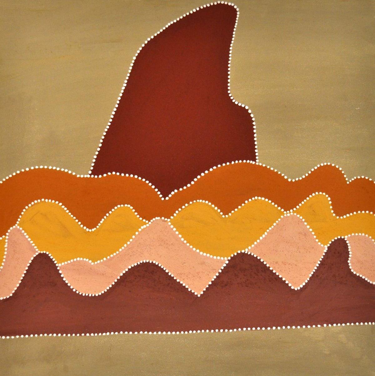 Betty Carrington Garlumbuny natural ochre and pigments on canvas 80 x 80 cm