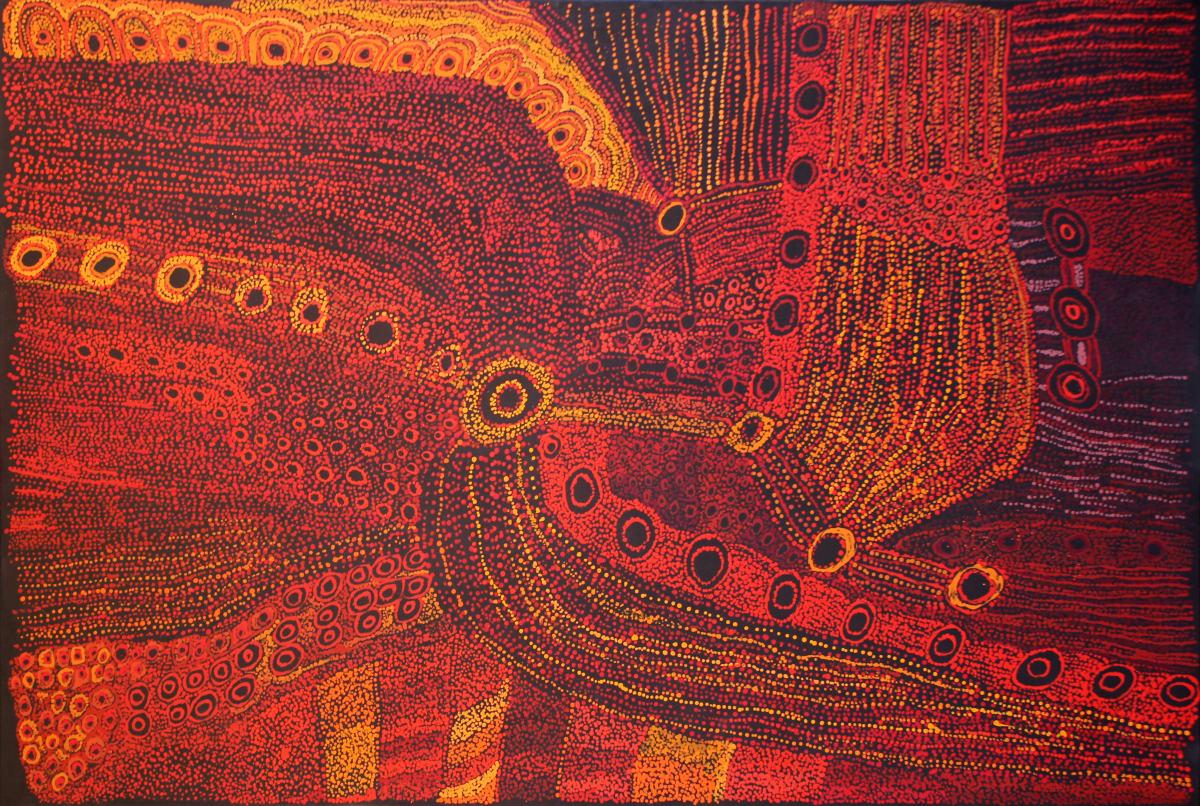 Judy Martin Ngayuku Tjamuku Ngura acrylic on linen 181 x 122 cm