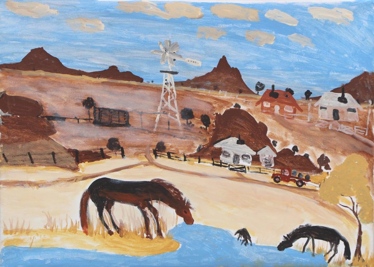 Jimmy Pompey Cowboy Story acrylic on canvas 67 x 91 cm