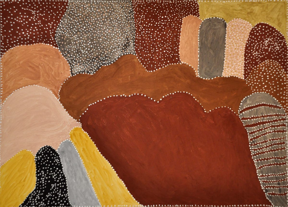 Patrick Mung Mung Ngargoorroon Country natural ochre and pigments on canvas 100 x 140 cm