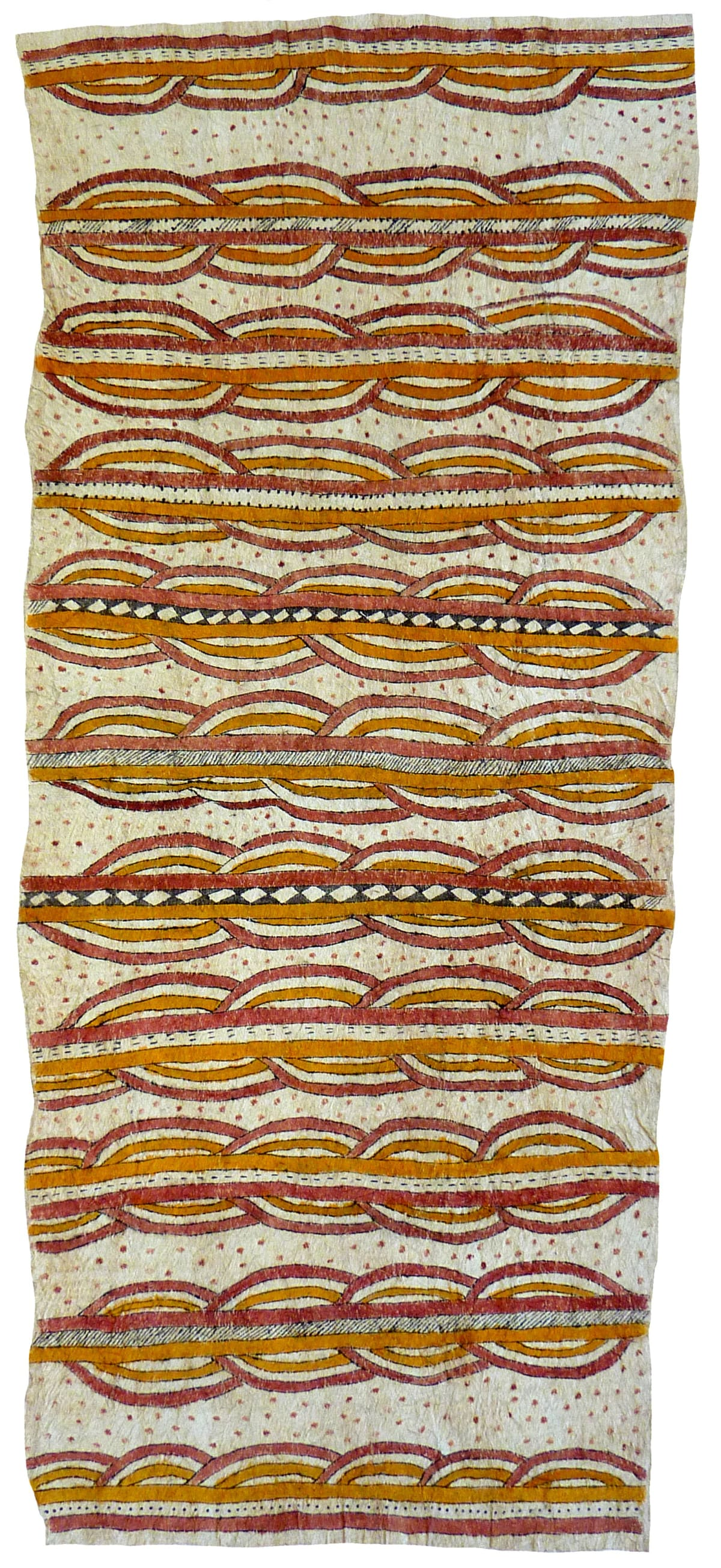 Celestine Warina Tagure' natural pigments on nioge (barkcloth) 140 x 63 cm