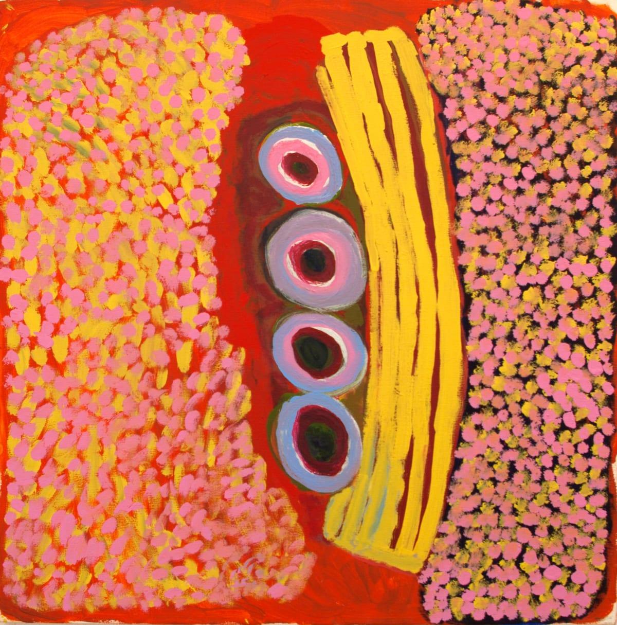 Rosie (Tarku) Tarco King Ngurti (Coolamon) acrylic on canvas 90 x 90 cm