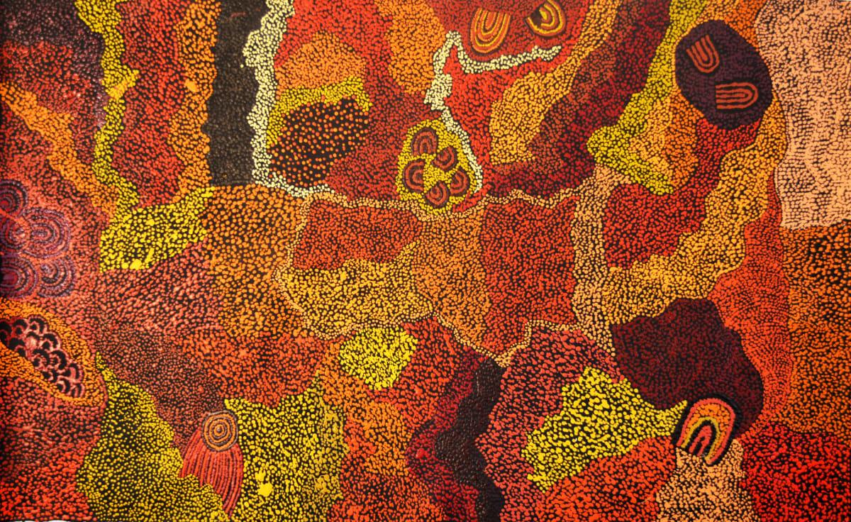 Marita Baker Kalayu munu Malilu Tjukurpa acrylic on canvas 121 x 75 cm