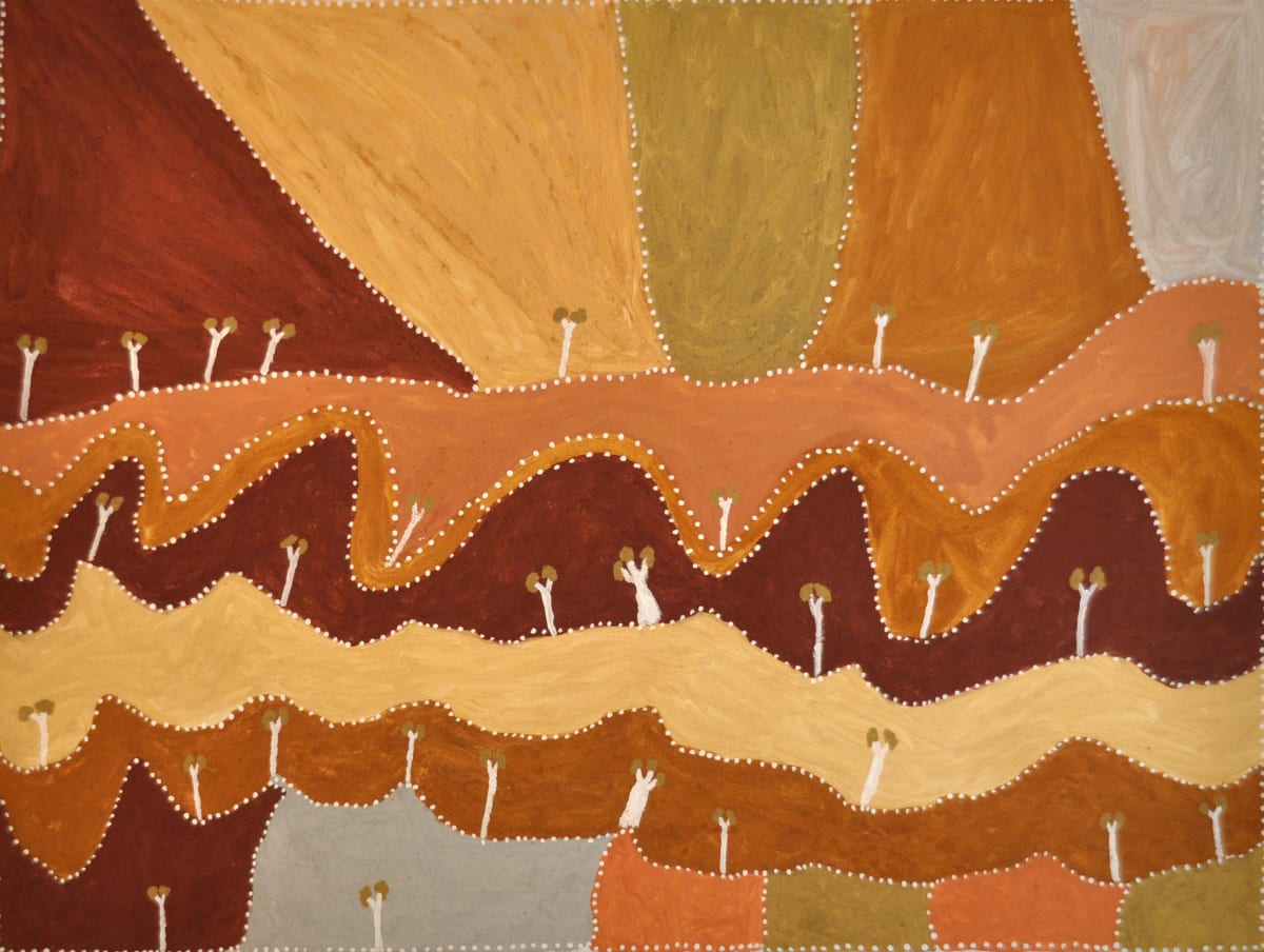 Patrick Mung Mung Nowgarlwin natural ochre and pigments on canvas 120 x 90 cm