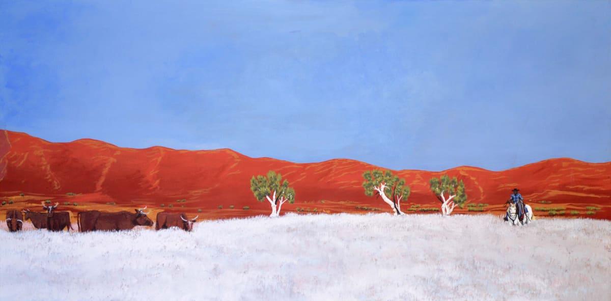 Mervyn Street Long Hole Range acrylic on canvas 60 x 120 cm