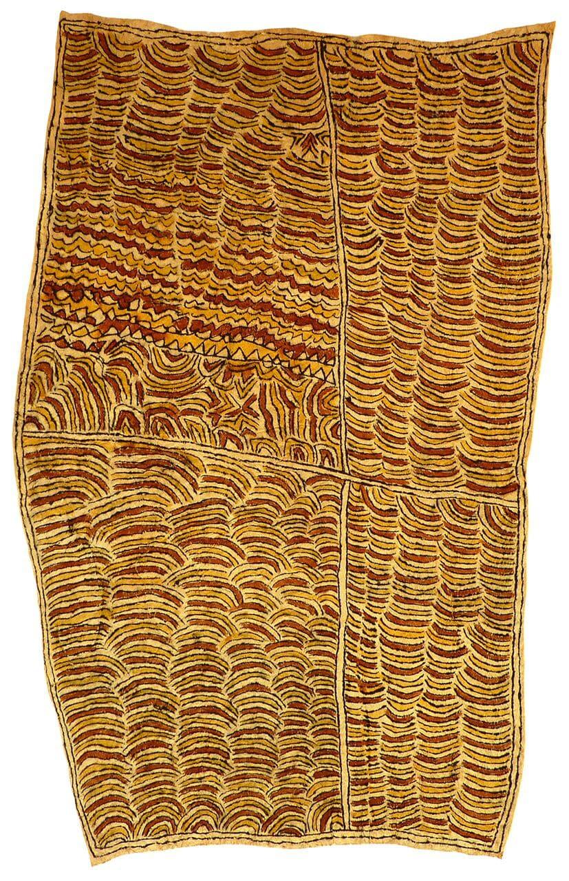 Martha-Jean Uhamo (Dogarine) Kutito'e sin'e soru'e natural pigments on nioge (barkcloth) 79 x 48.5 cm