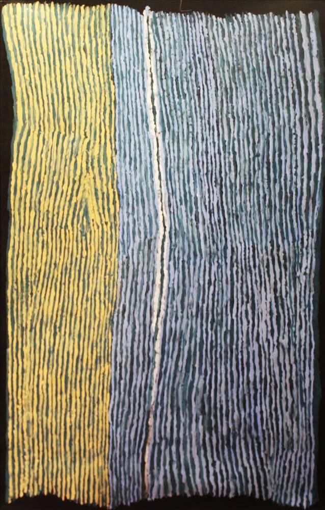 Ray Ken Tali - Sand dune acrylic on linen 152 x 101 cm