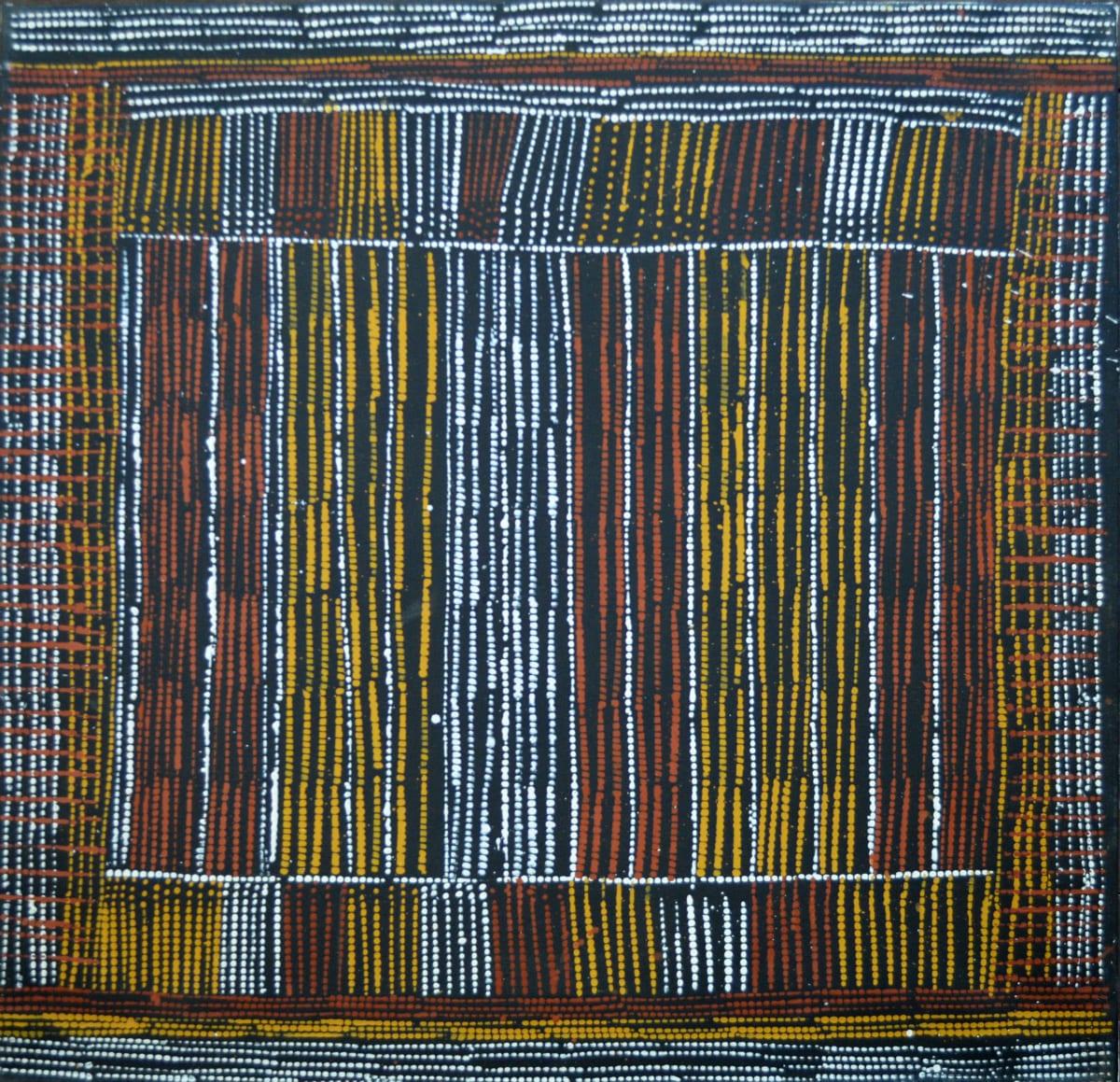 Mary Elizabeth Moreen Jilamara natural ochres on canvas 70 x 70 cm