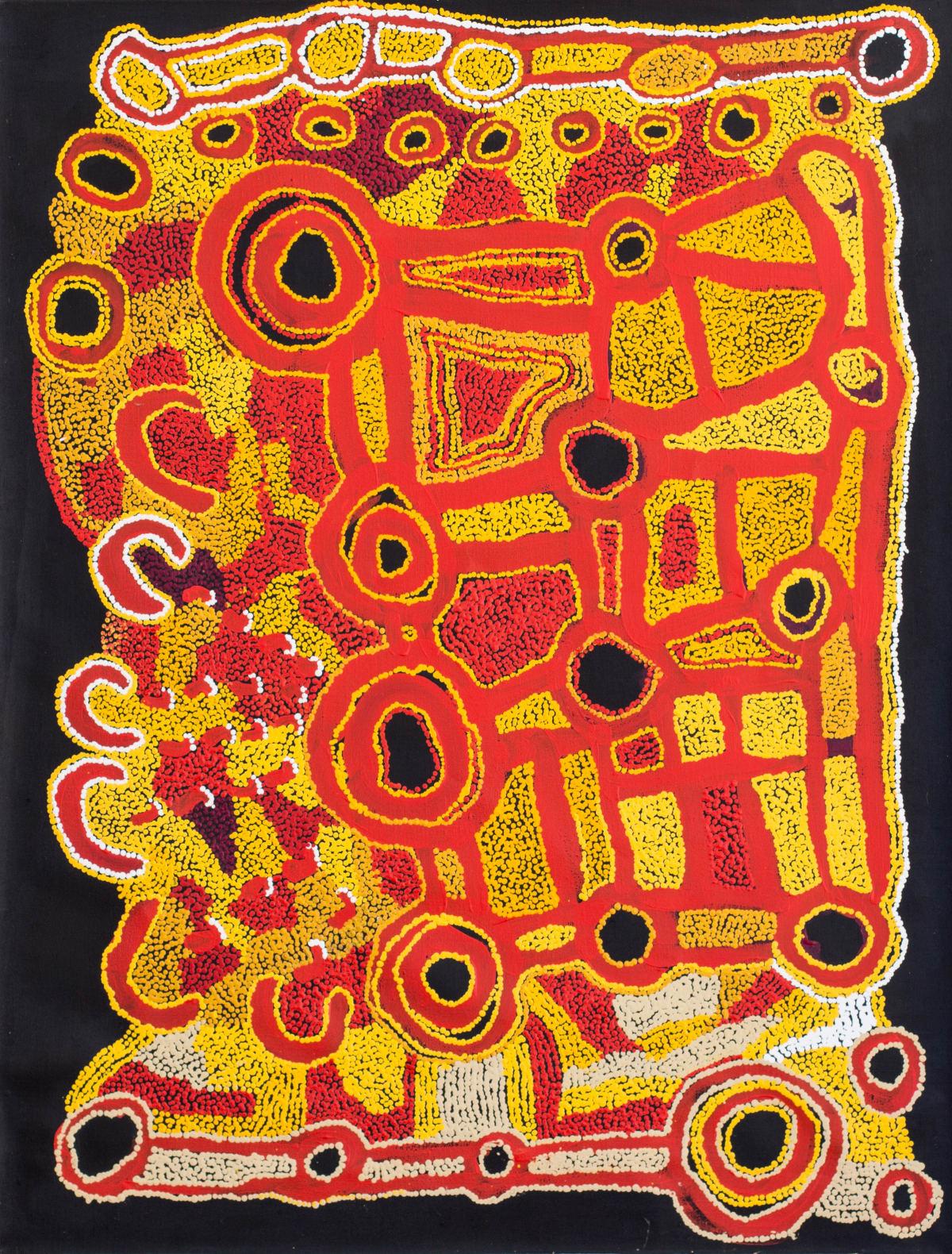 Ngalpingka Simms Minyma Tjuta, 2017 Acrylic on linen 110 x 85 cm