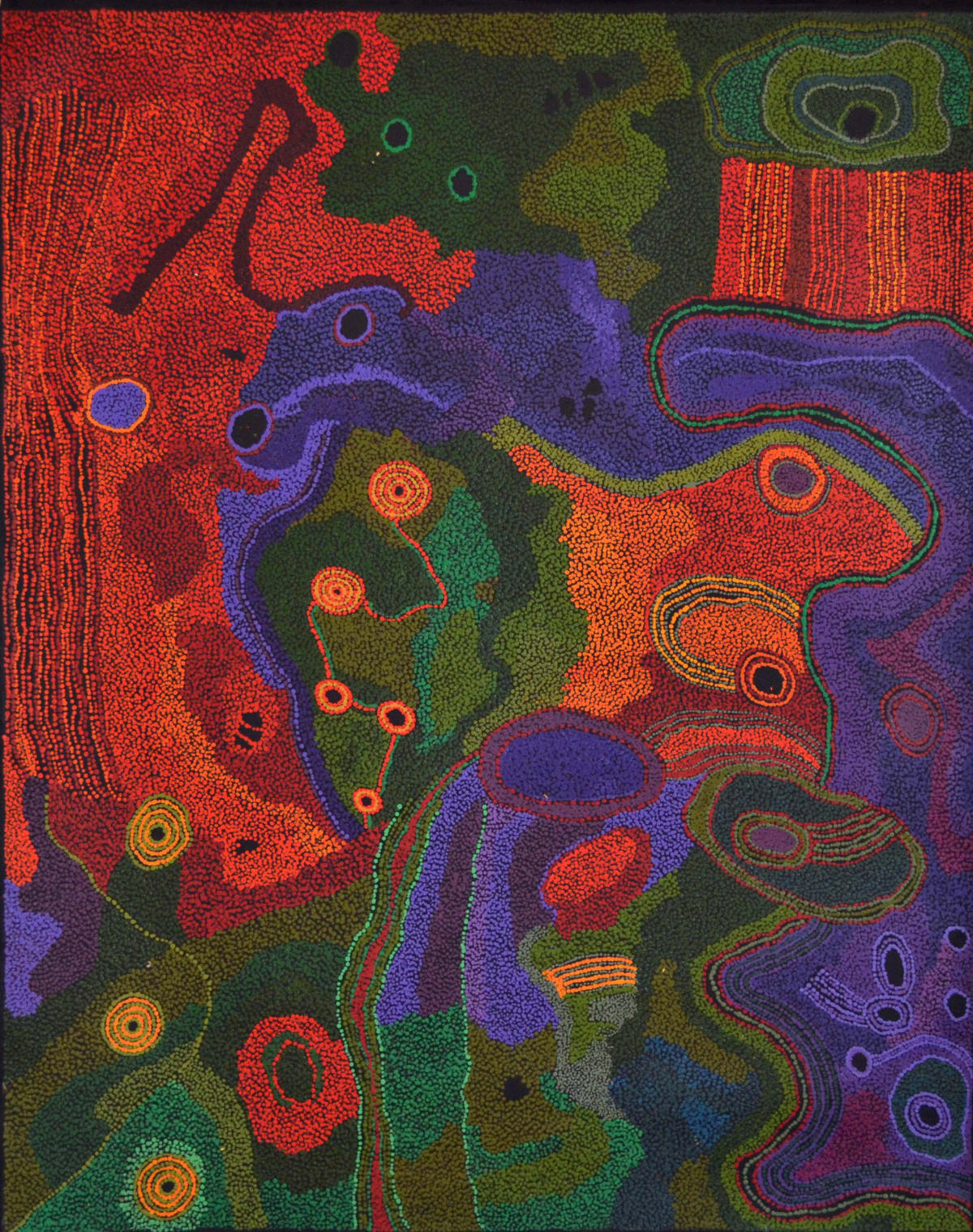 Tjungkara Ken Seven Sisters 2014 acrylic on linen 152.5 x 122 cm