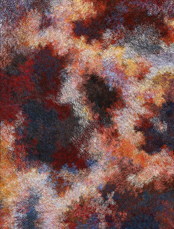 Vicki Cullinan Munga Ilkari-night sky acrylic on linen 152 x 198 cm