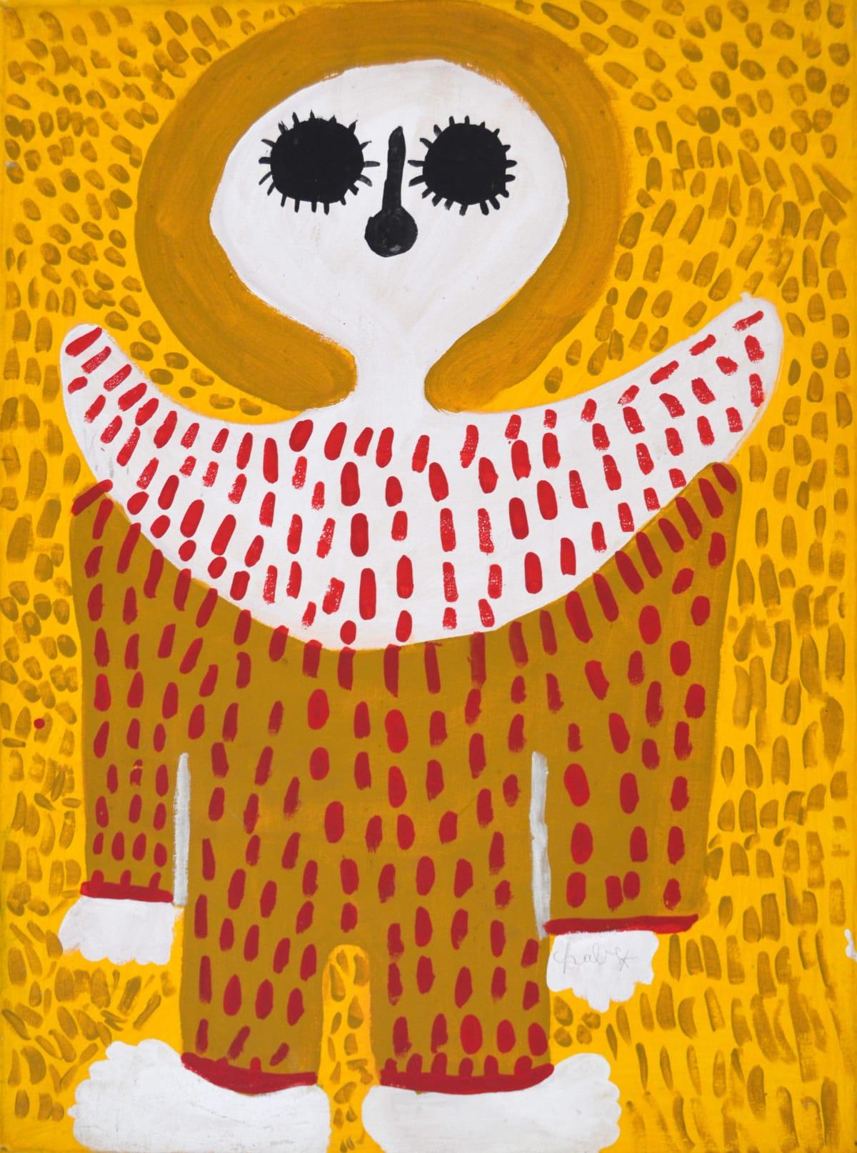 Mabel King Wandjina acrylic on canvas 71 x 52 cm