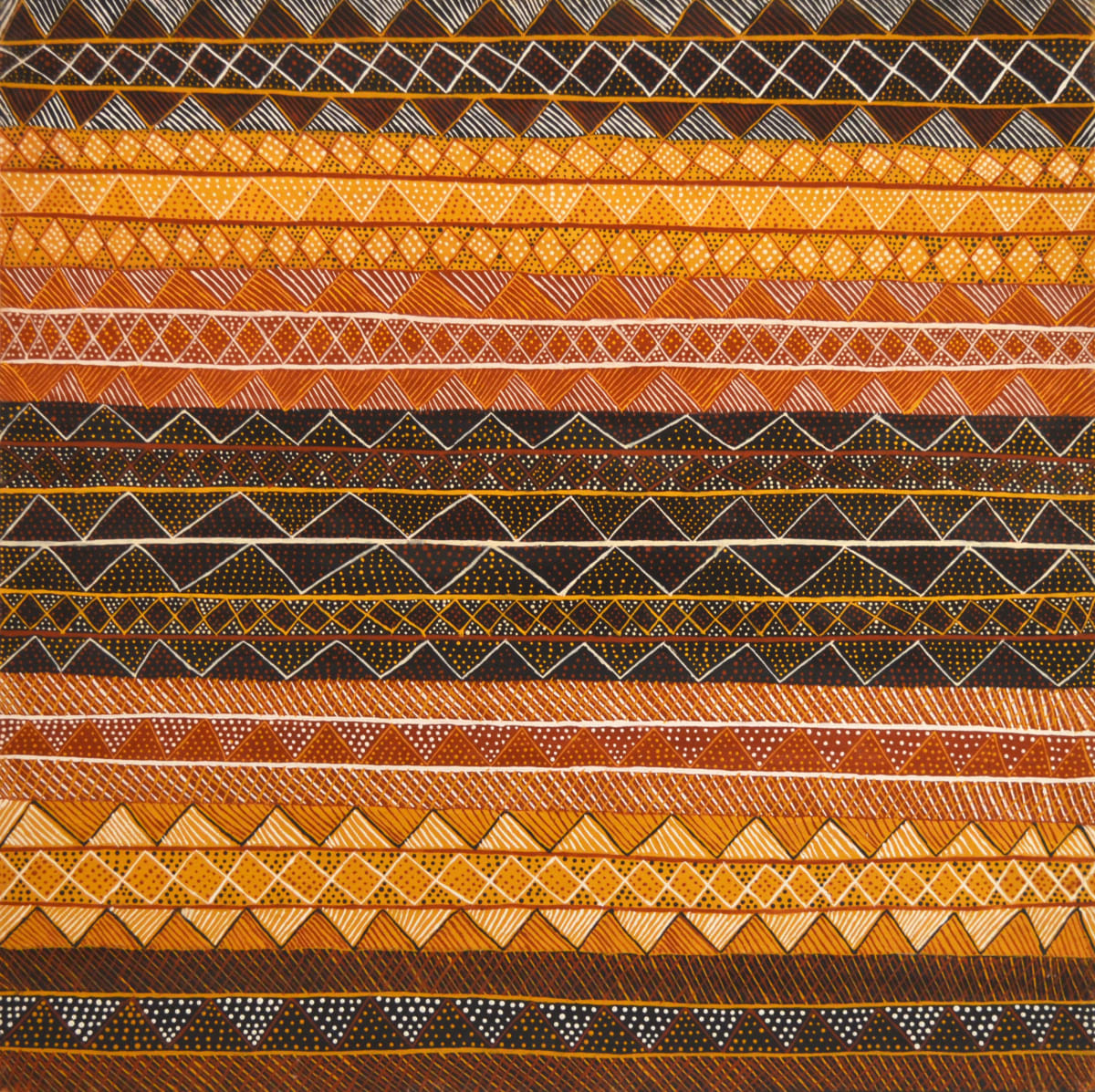 Jacinta Lorenzo Kayimwagakimi Jilamara natural ochres on linen 120 x 120 cm