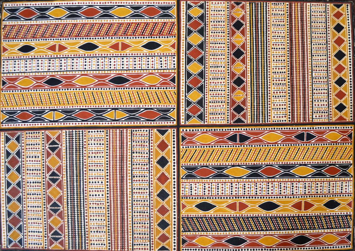 Janice Pungautiji Murray Jilamara natural ochres on arches paper 76 x 106 cm