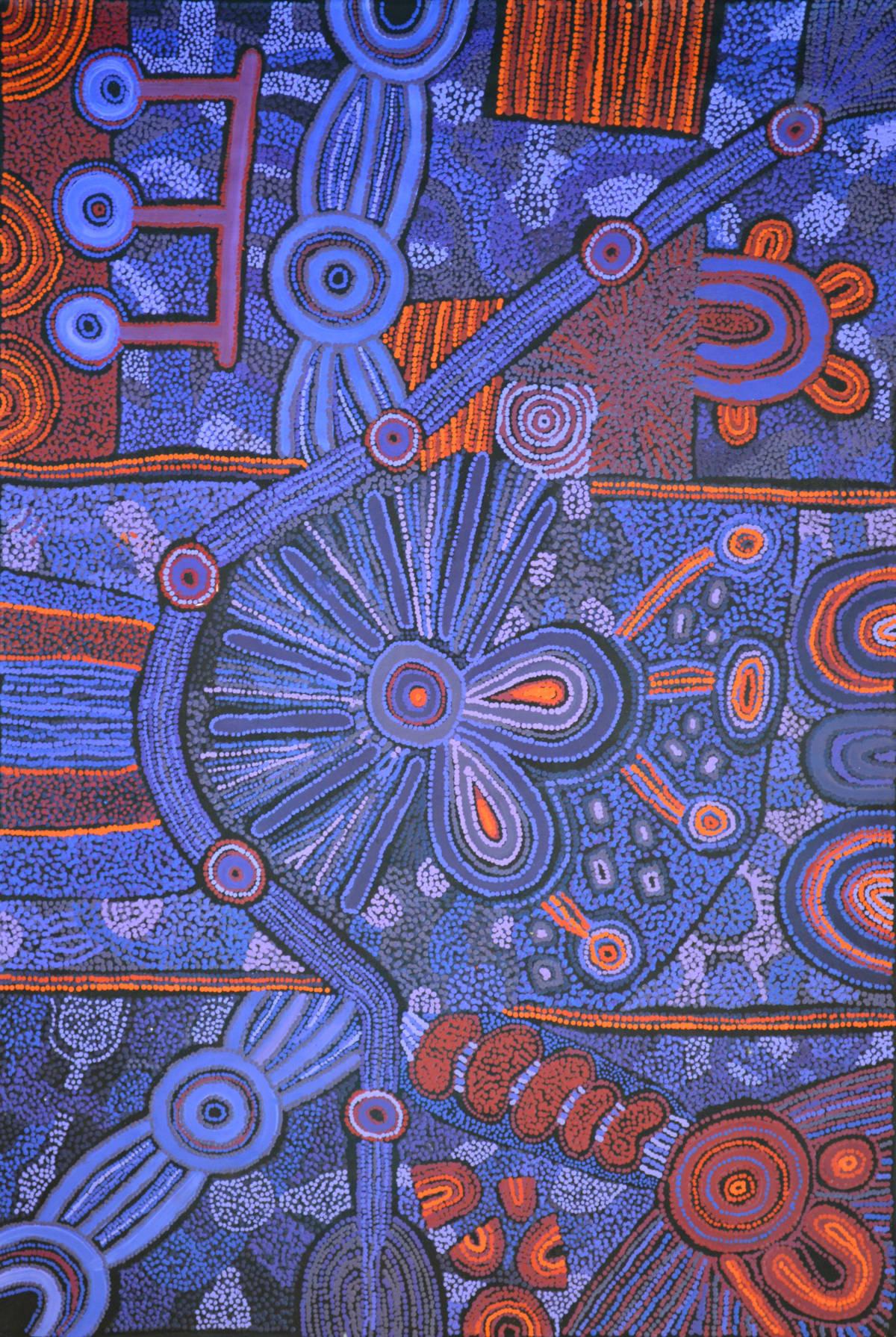 Clarise Tunkin Malilu Tjukurpa acrylic on canvas 150 x 100 cm