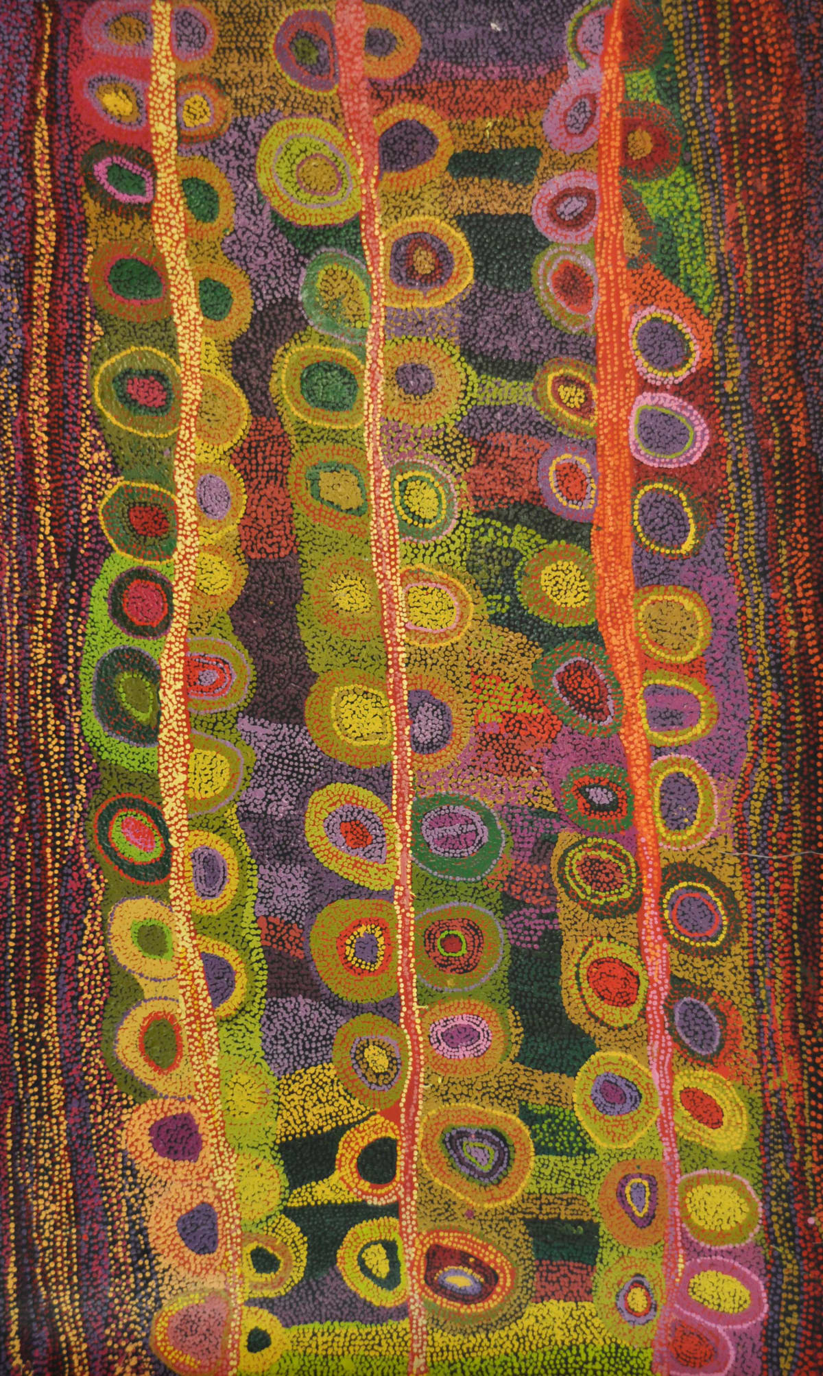 Wawiriya Burton Ngayuku ngura - My Country acrylic on linen 198 x 122 cm
