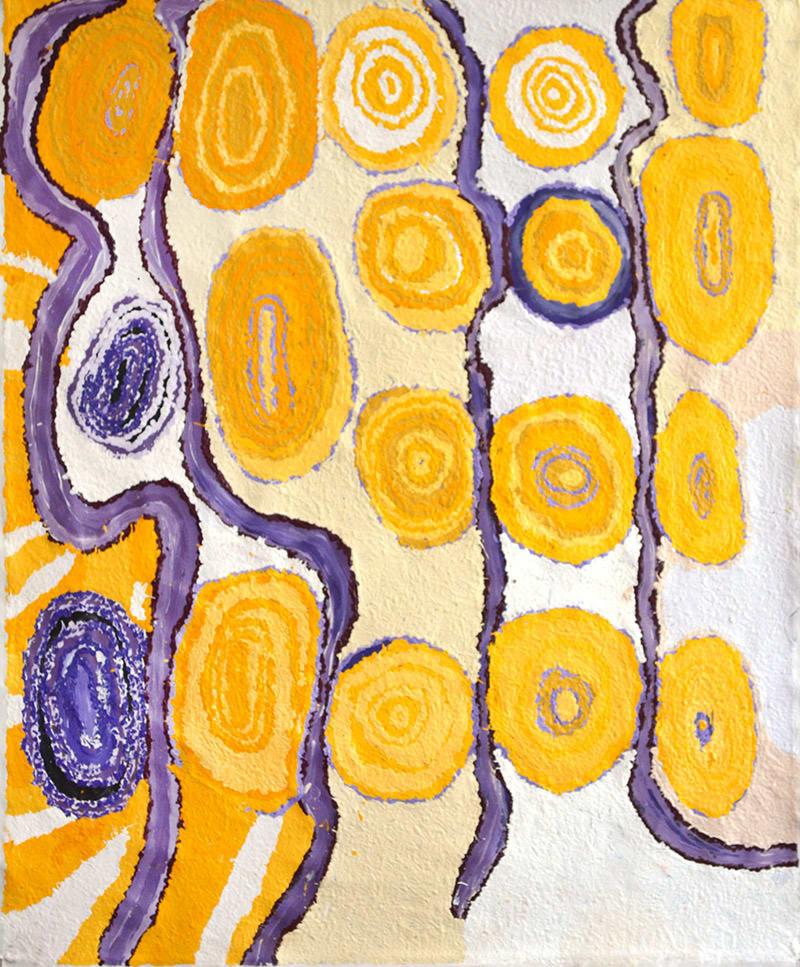 Beryl Jimmy Kapi Tjuta acrylic on linen 100 x 120 cm