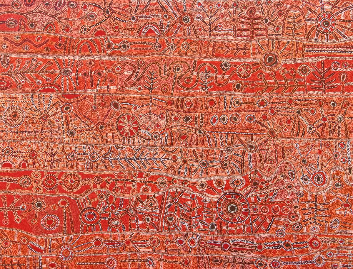 Julie Yatjitja Ngura (Country) acrylic on linen 152 x 198 cm