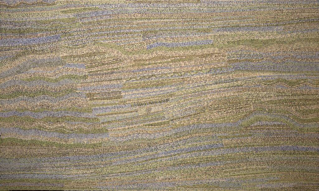 Yurpiya Lionel Anumara acrylic on linen 150 x 90 cm
