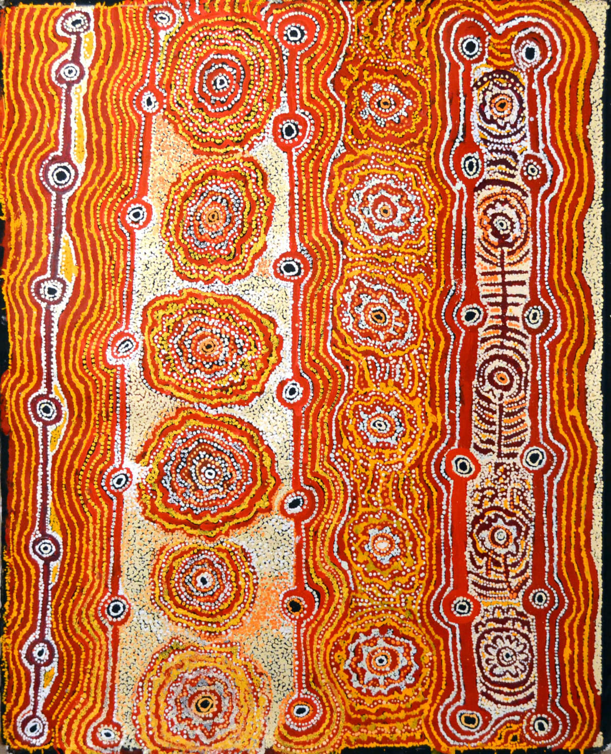 Hector Tjupuru Burton Anumara Tjukurpa acrylic on linen 122 x 101 cm