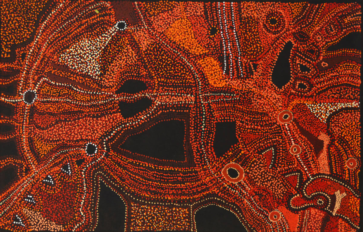 Kani Patricia Tunkin Maliliu Tjukurpa acrylic on linen 76 x 120 cm