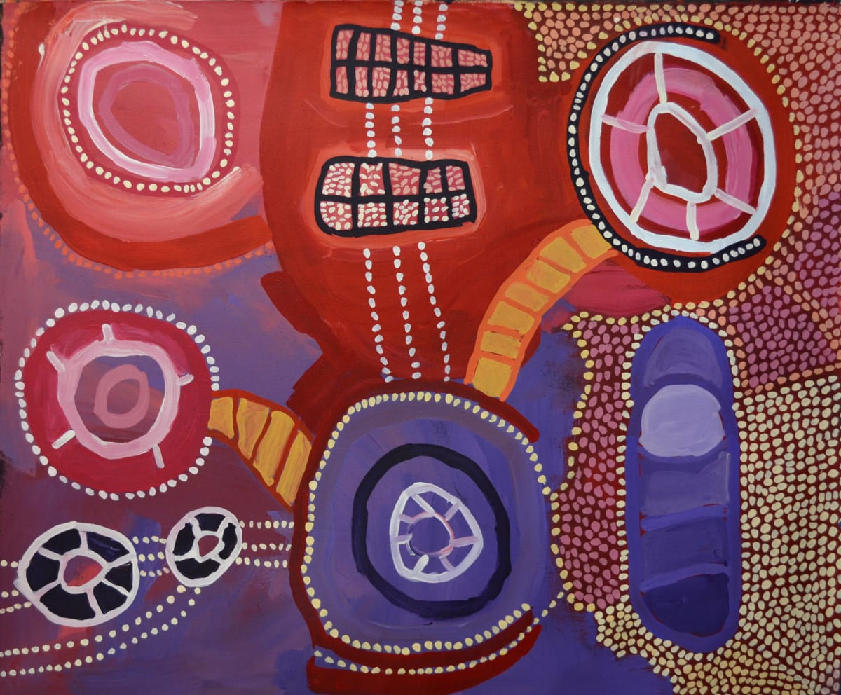 Linda Puna Ngayuku Ngura (My Home) acrylic on linen 152 x 122 cm
