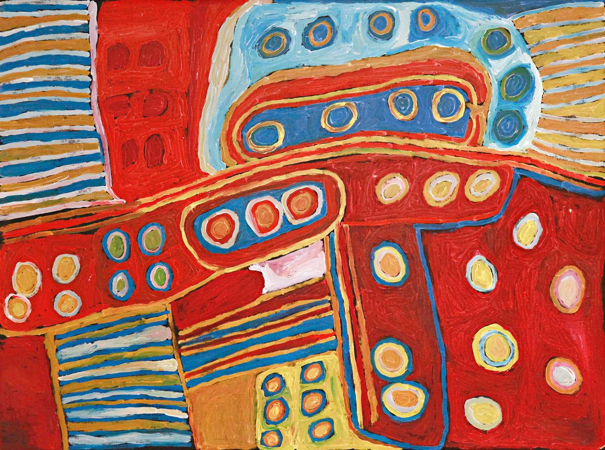 Nellie Stewart Minyma Kutjara acrylic on linen 150 x 200 cm