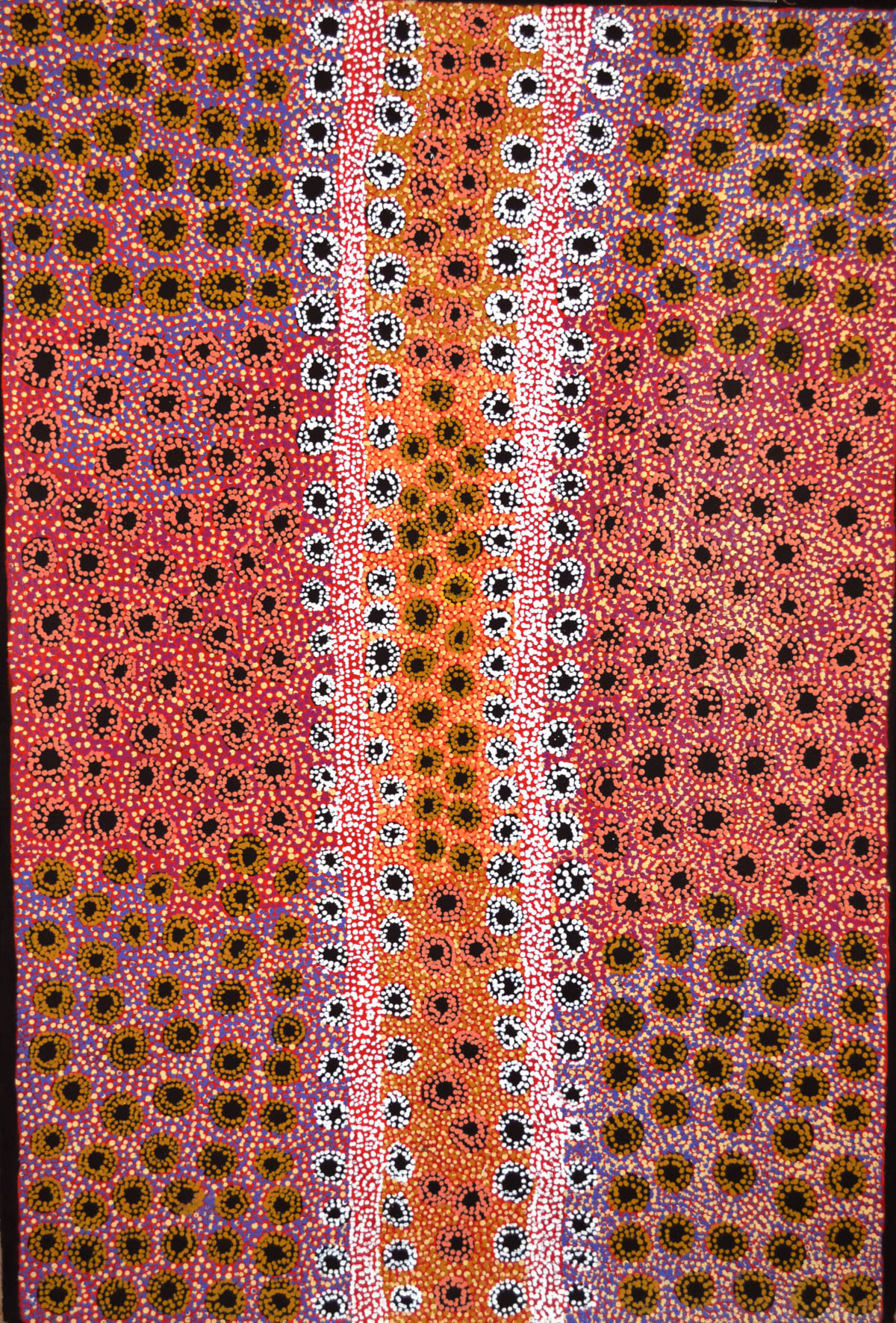 Tjimpayi Presley Seven Sisters 2014 acrylic on linen 152.5 x 101.5 cm