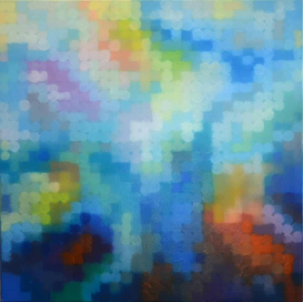 Matthew Johnson Element VI Oil paint on Linen 90 x 90 cm
