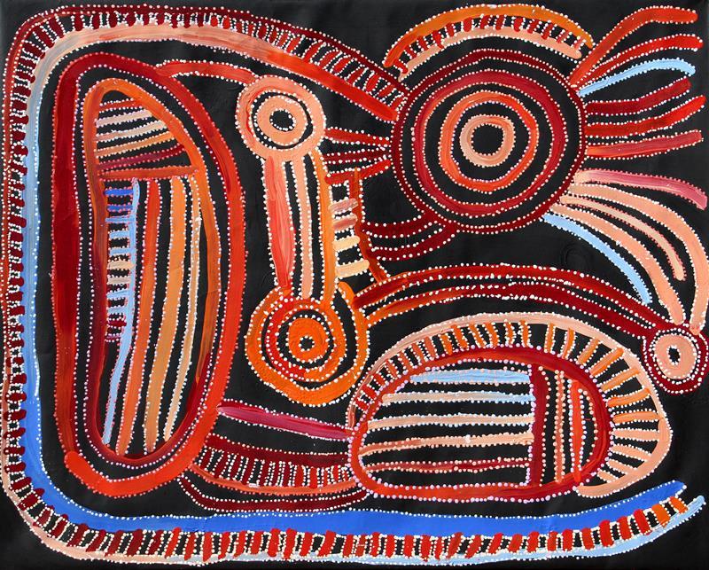 Emily Cullinan Ananyi Ngura acrylic on linen 122 x 152 cm