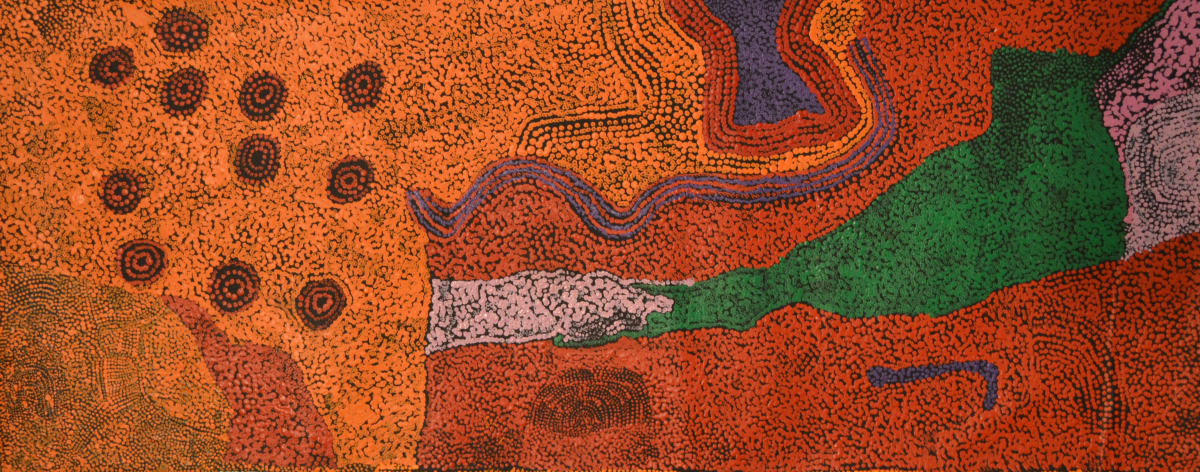 Ginger Wikilyiri Tjukula Tjukurpa 2015 acrylic on canvas 101 x 40 cm