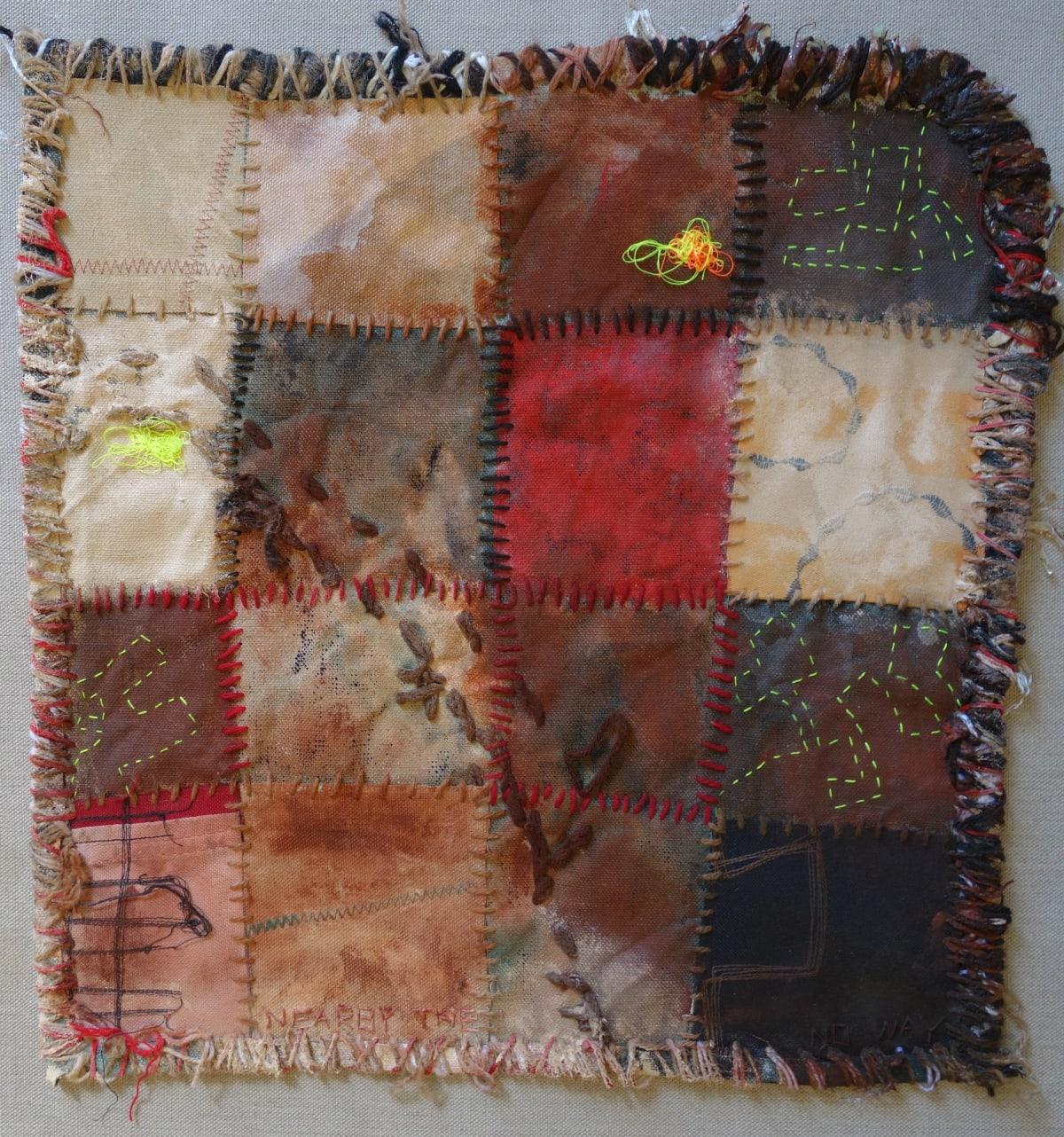 Stephen Eastaugh MUDMAPS 3 (Nearby the No way) Broome acrylic, thread, linen 45 x 45 cm