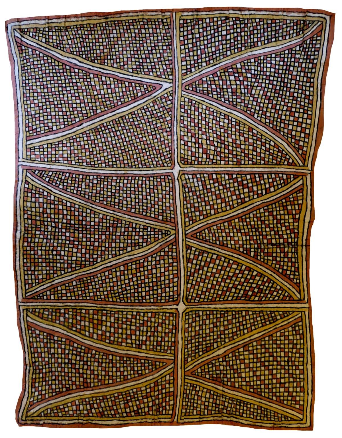 Mala Nari (Matosi) Dahoru'e ohu'o tuböre une natural pigments on nioge (barkcloth) 115 x 90.5 cm