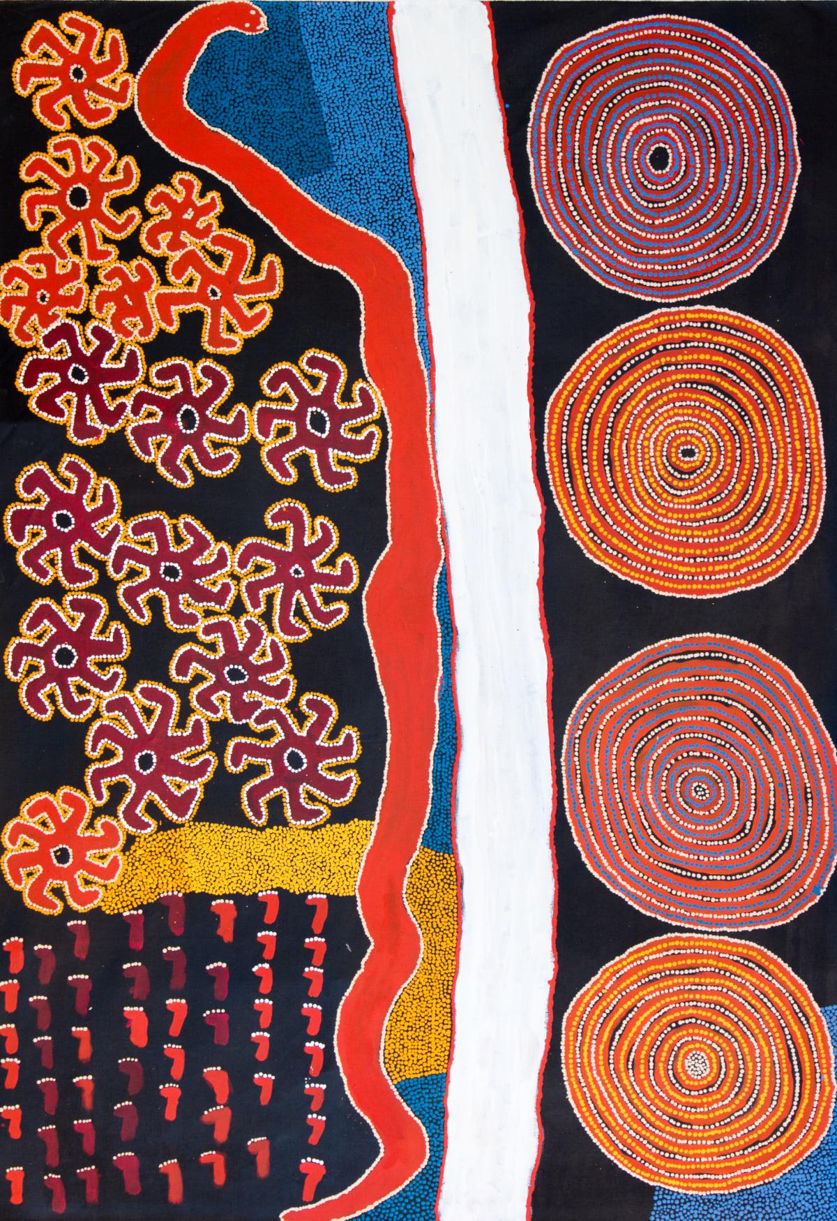 Lennard Walker Kulkapa Acrylic on linen 197 x 139 cm