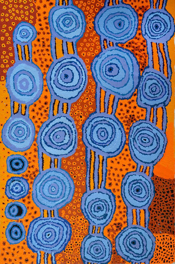 Beryl Jimmy Kapi Tjuta acrylic on linen 100 x 150 cm