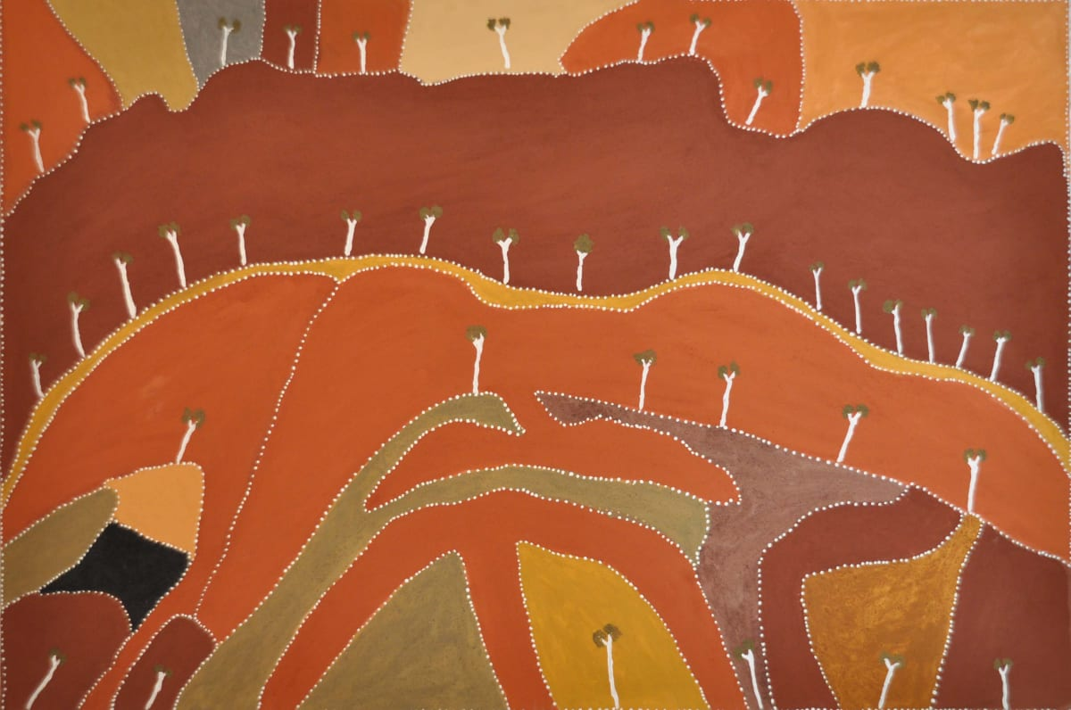 Patrick Mung Mung Nowgarlwin natural ochres on canvas 180 x 120 cm