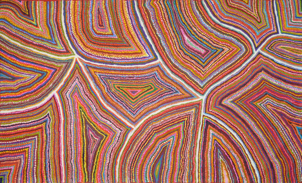 Samuel Miller Ngayuku Ngura acrylic on linen 183 x 110 cm
