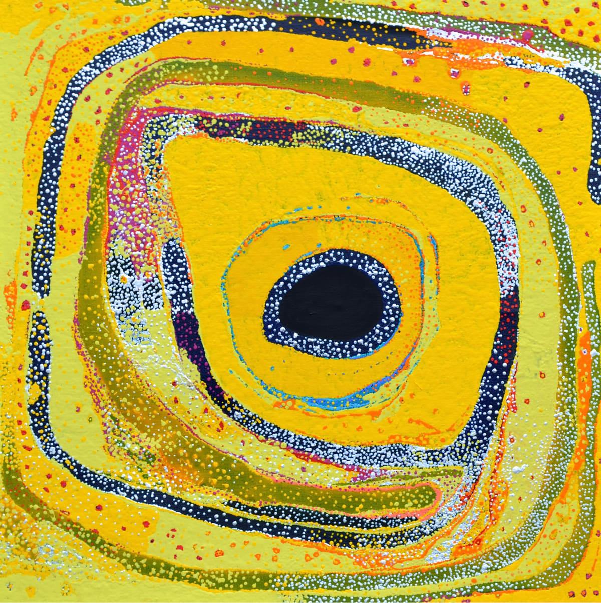 Daniel Walbidi Kirriwirri 2014 acrylic on linen 100 x 100 cm