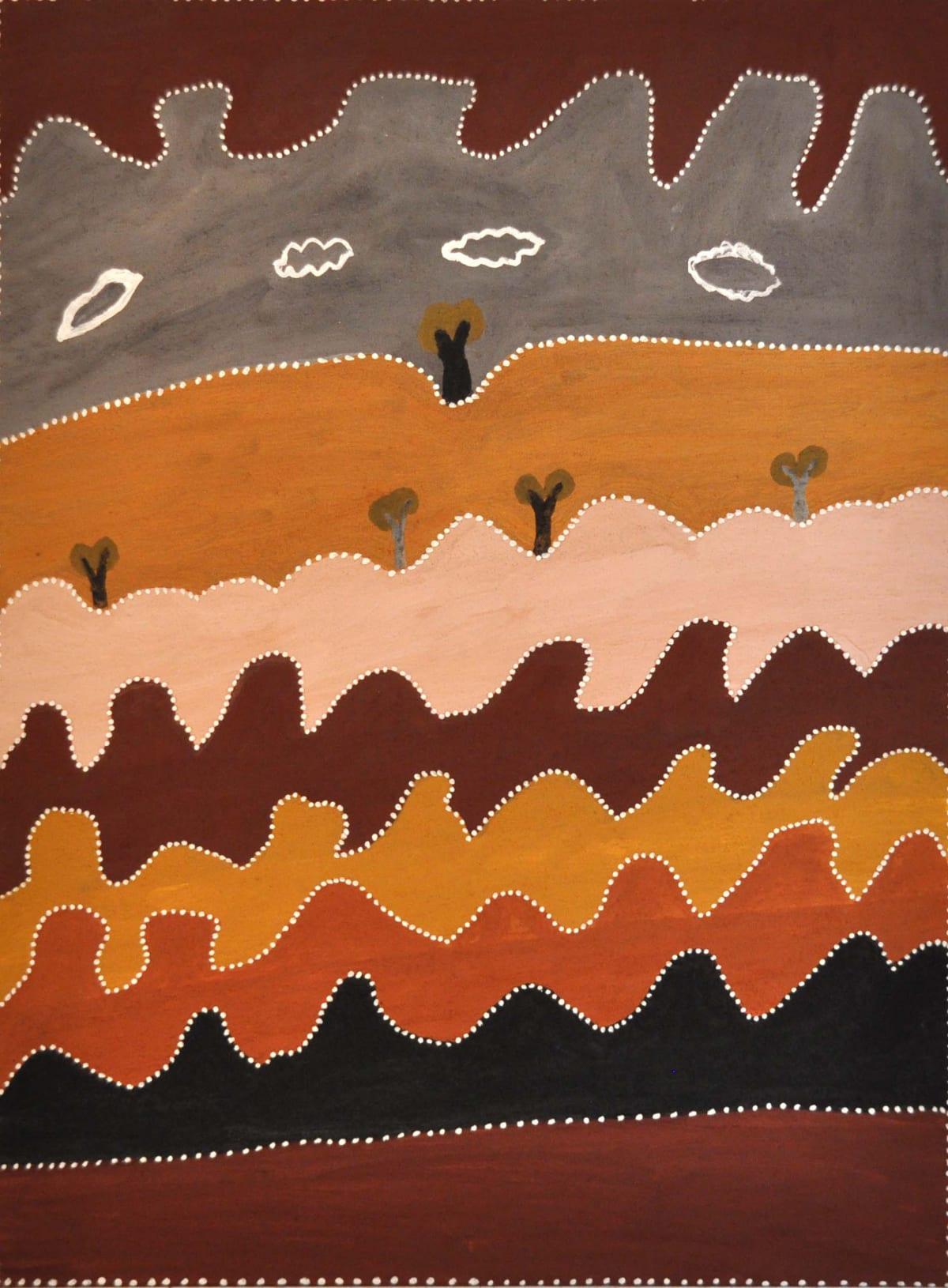 Betty Carrington Ngargooroon natural ochre and pigments on canvas 120 x 90 cm