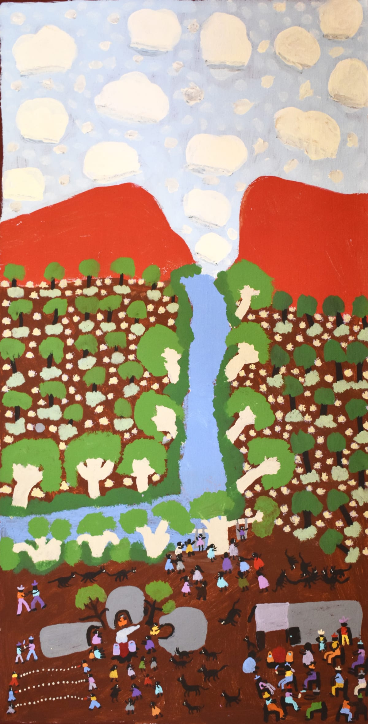 Grace Kemarre Robinya Coniston acrylic on linen 46 x 90 cm