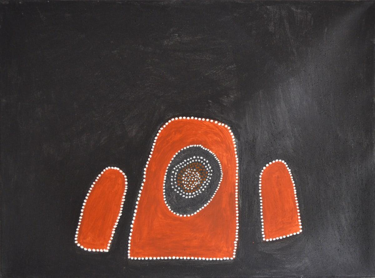 Mabel Juli TWO JIYIRRINY & GAYIRRINY natural ochre and pigments on canvas 120 x 90 cm