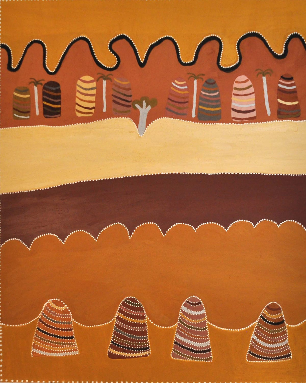 Betty Carrington Gowarrin natural ochre and pigments on canvas 150 x 120 cm