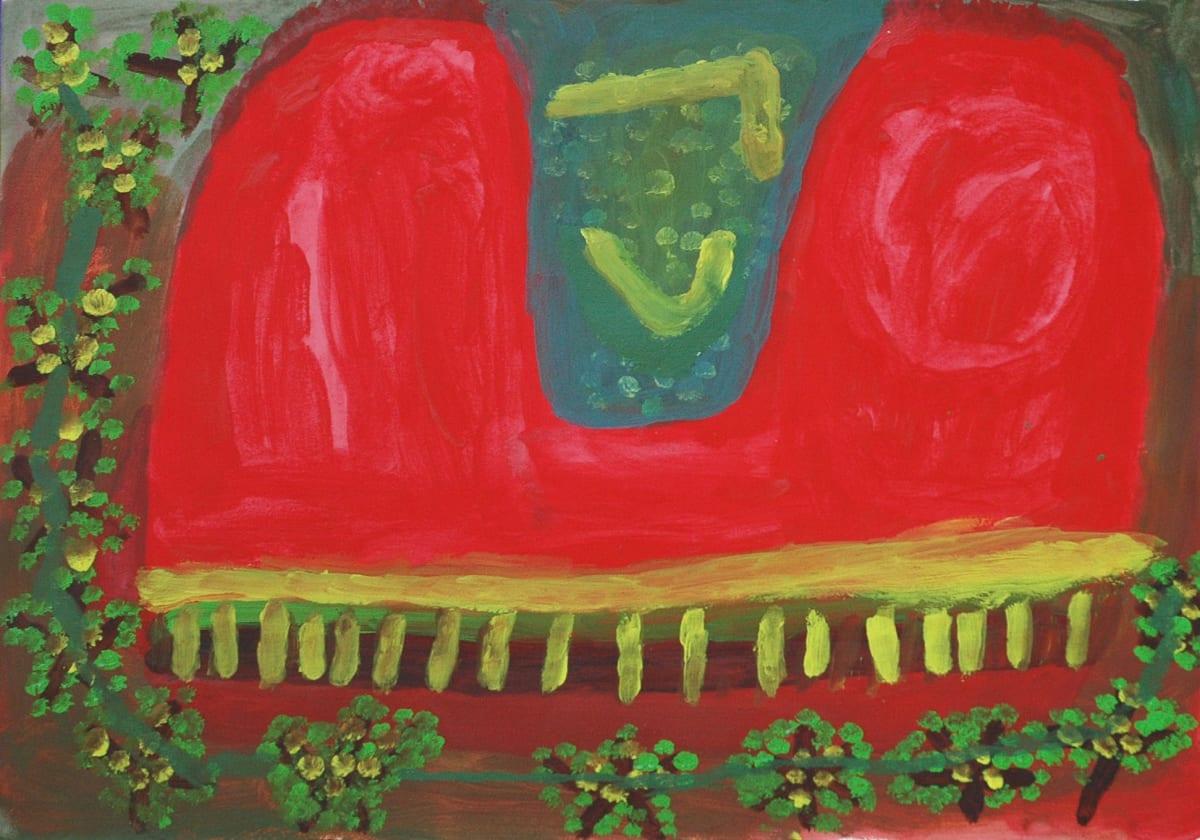 Kulyukulyu Trixie Shaw Parnany Kujarra atelier artist acrylic on 250gsm velin arches 52 x 75 cm